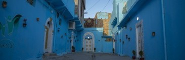 A Group Of Young Moslawis Paint Neighborhood Blue to Emulate Chefchaouen